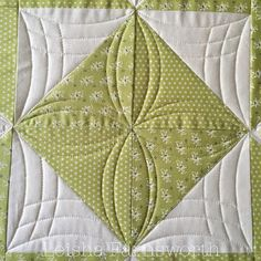 Quilting It - quilting on an HST diamond