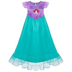 Love Ariel in Disney's The Little Mermaid movie and love this nightgown, too. #littlemermaid #disney