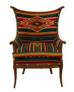 Contessa Serape Wingback Chair from CryBabyRanch.com