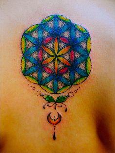 Rainbow seed of life 『mahari tattoo』  http://ameblo.jp/memimpin-tattoo/