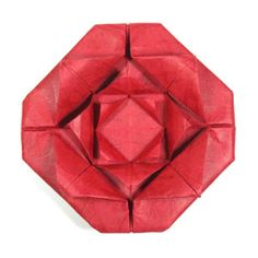 How to make a fractal origami rose (http://www.origami-make.org/origami-rose.php)