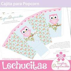 Lechucitas nena Cajita para popcorn