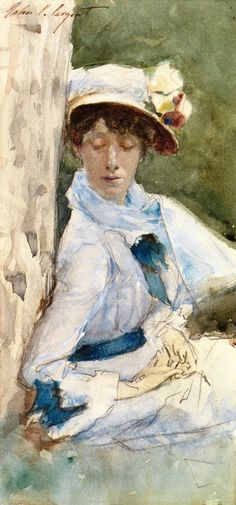John Singer Sargent  Woman Leaning against a Tree ca. 1878
