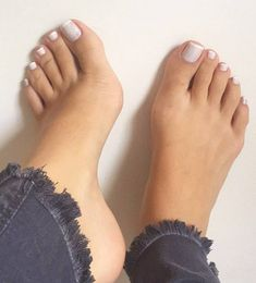 Only sexy feet Nice Toes, Pretty Toes, Manicure E Pedicure, Mani Pedi, White Pedicure, French Pedicure, Nails Polish, Toe Nails, Duck Feet Nails