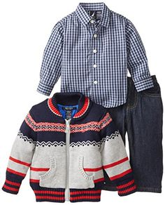 Nautica Babys Infant 3 Piece Zip Sweater Set, Ash Heather, 12 Months Nautica http://www.amazon.com/dp/B00KDIBN5K/ref=cm_sw_r_pi_dp_bwa9ub0Z9QMYZ