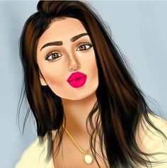 Cute Girl Wallpaper, Cute Wallpaper Backgrounds, Cute Cartoon Girl, Cartoon Art, Sarra Art, Hair Diffuser, Foto Top, Chica Cool, Girly M