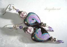 Spirit Horse Earrings by Chaeyahne Heart of Equus Purple | eBay