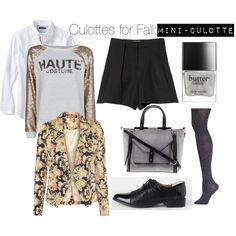 Culottes for Fall by kinksarethenewpink, via Polyvore