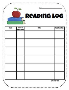 ... logs on Pinterest | Reading Logs, Teacher Forms and First Grade