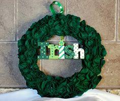 felt St Patricks Day wreath