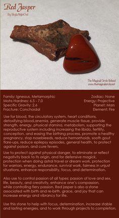 Red Jasper - by Skyla NightOwl - The Magical Circle School www.themagicalcir...
