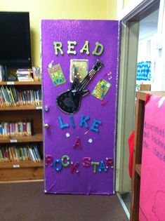 This is on the library door at Collins Elementary School. Love it!