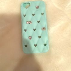 iPhone 5/5s/5c case Amazing light blue phone case with charms. Fits iPhone 5/5s/5c. Soft, and very protective as well as cute. Top condition Claire's Accessories Phone Cases