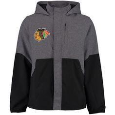 Chicago Blackhawks Rinkside Polk Full-Zip Rain Jacket - Gray