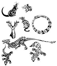 Tribal rats and lizards by ~BasiliskZero on deviantART