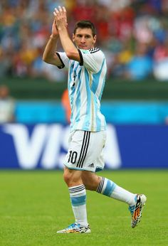FIFA World Cup 2014 - Argentina 3 Nigeria 2 (6.25.2014) Lionel Messi of Argentina acknowledges the fans as he exits the match during the 2014 FIFA World Cup Brazil Group F match between Nigeria and Argentina at Estadio Beira-Rio on June 25, 2014 in Porto Alegre, Brazil. Ronald Martinez / Getty Images
