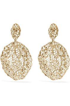 Aurélie Bidermann - Dentelle Gold-plated Earrings - one size