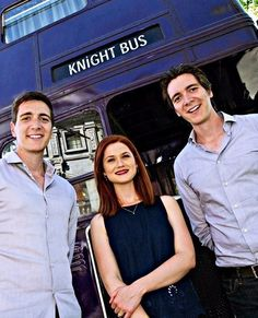 Phelps twins and Bonnie Wright