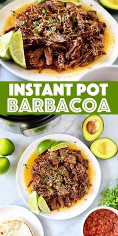 Instant Pot Barbacoa Recipe - tender fall apart beef loaded with traditional mexican spices and finished with fresh cilantro and lime juice. If you like Chipotle Barbacoa, you are going to love this recipe! Best Instant Pot Recipe, Instant Recipes, Instant Pot Dinner Recipes, Instant Pot Meals, Mexican Food Recipes, Beef Recipes, Cooking Recipes, Healthy Recipes, One Pot Recipes