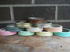 Mason Jar Hanging Lid  Choose Your Own Color by CrownedWithBeauty, $4.50