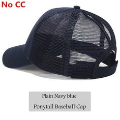 5ebc6156ae7 2018 CC Glitter Ponytail Baseball Cap Women Snapback Hat Summer Messy Bun  Mesh Hats Casual Adjustable