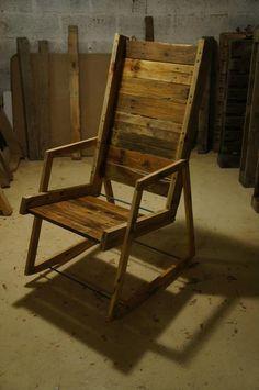DIY Pallet Wood Rocking Chair | Pallet Furniture Plans