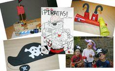 Manualitats infantils relacionades amb els pirates: barret pirata, garfi pirata, vaixell pirata de cartó, llargavista pirata. Molt fàcils de fer i divertides.