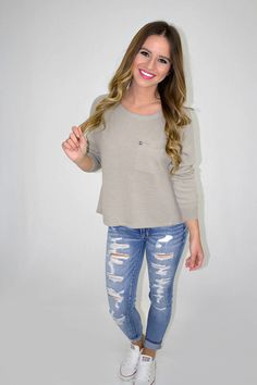Joelle Top - Taupe