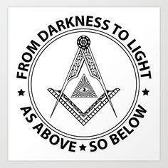 Freemasonry symbol Art Print by igorsin - X-Small Masonic Signs, Masonic Art, Masonic Symbols, Pagan Symbols, Symbols And Meanings, Illuminati, Masonic Tattoos, Rick And Morty Drawing, Egyptian Tattoo Sleeve