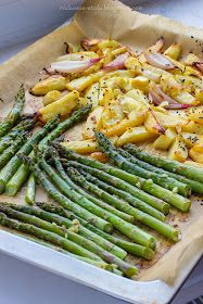 Healthy Style, Good Food, Yummy Food, Salmon Recipes, Vegetable Dishes, Asparagus, Green Beans, Food And Drink, Appetizers