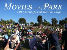 Summer Movies in the Park has started! Free movies all summer long at parks all over San Diego! Free things to do with your family!