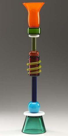 ETTORE SOTTSASS / MEMPHIS Polychrome glass candles #art