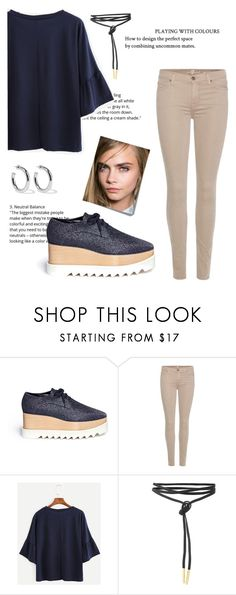 """""""Untitled #249"""" by nnk24 ❤ liked on Polyvore featuring Post-It, STELLA McCARTNEY, 7 For All Mankind and Sophie Buhai"""
