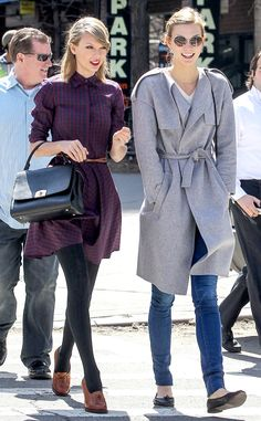 Taylor Swift and Karlie Kloss look super cute for a girls' day out!
