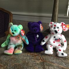 Etsy :: Your place to buy and sell all things handmade Ty Bears, Soap On A Rope, Beanie Babies, Beanie Bears, Get Well Gifts, Crochet Tote, Dinosaur Stuffed Animal, Stuffed Animals, Stocking Stuffers