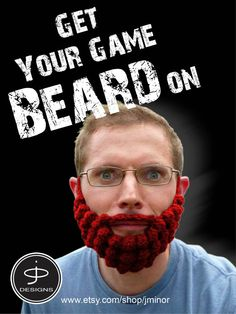 Game Beard - Crocheted Beards - Adult Size