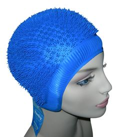Swimming Hat Ladies Bathing Cap Hedgehog Spikey Swim Hat Yellow White Red Blue