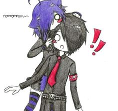 Cute anime that is probably an emo couple I like it anyways LOL