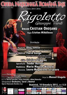 """""""Rigoletto"""", opera in trei acte de G. Verdi"""