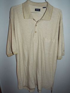 IZOD mens large tan short sleeve polo shirt #izod #PoloRugby
