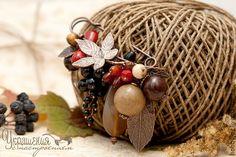 """Купить Брошь """"Пряная осень"""" - осень, ягоды, брошь с ягодами, брошка, осенняя брошь"""