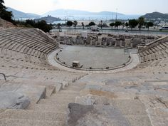 Bodrum Amphitheatre with view of Bodrum Castle in the background