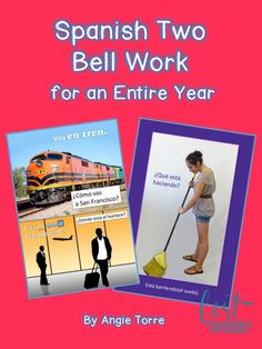 Spanish Two Bell Ringers for an Entire Year Spanish Grammar, Ap Spanish, Spanish Vocabulary, Spanish Lessons, Teaching Spanish, Spanish Teacher, Learn Espanol, Present Tense Verbs, Object Pronouns