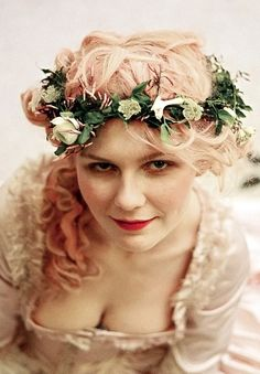Kirstin Dunst as Marie Antoinette in Sofia Coppola's movie