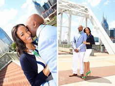 downtown nashville engagement photos, shelby bridge, cumberland park, african american wedding, #nashvillecouple, #nashvillewedding, @ROLAND'S Photography