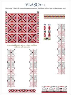 modele cusaturi ie - Yahoo Image Search Results Folk Embroidery, Embroidery Patterns, Machine Embroidery, Knitting Patterns, Embroidery Stitches, Cross Stitch Borders, Cross Stitch Patterns, Paper Butterflies, Antique Quilts
