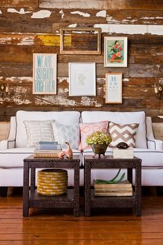 reclaimed wood paneling