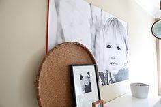 Staples engineer prints + insulation board = big easy canvas prints