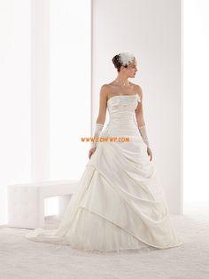 Taft Bez rukávů Šněrování Svatební šaty 2014