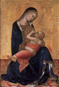 Lippo Memmi (Filippo di Memmo) ~ Madonna and Child, 1340s